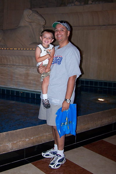 Me and Anthony at the Luxor, Las Vegas, NV